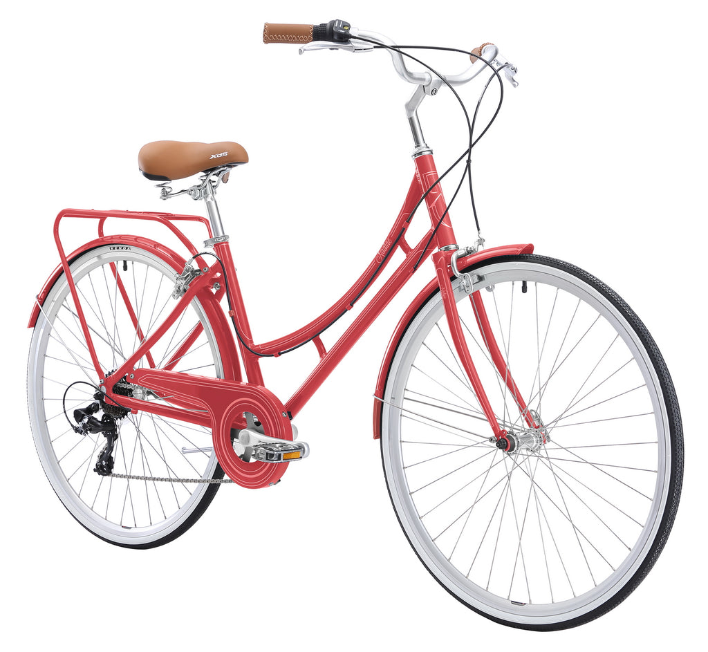 XDS Nadine 7sp Women's Hybrid City Commuter Bike //  Rose Red