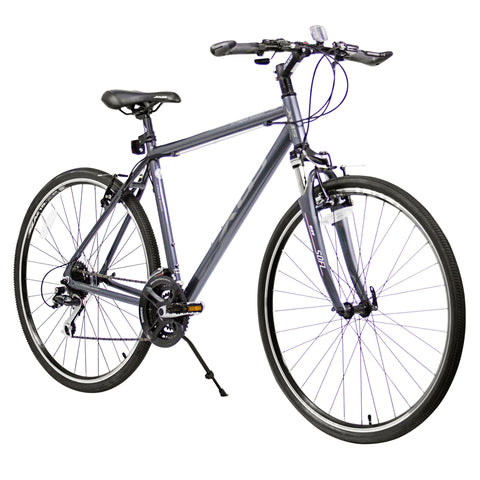 XDS Cross 300 24sp Men's 700C Hybrid City Commuter Bike //  Graphite
