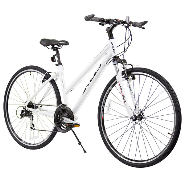 XDS Cross 300 24sp Step-Through Hybrid City Commuter Bike  //  Arctic White