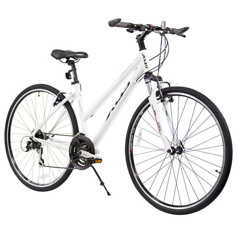 XDS Cross 300 24sp Women's 700C Step-Through Hybrid City Commuter Bike  //  Arctic White
