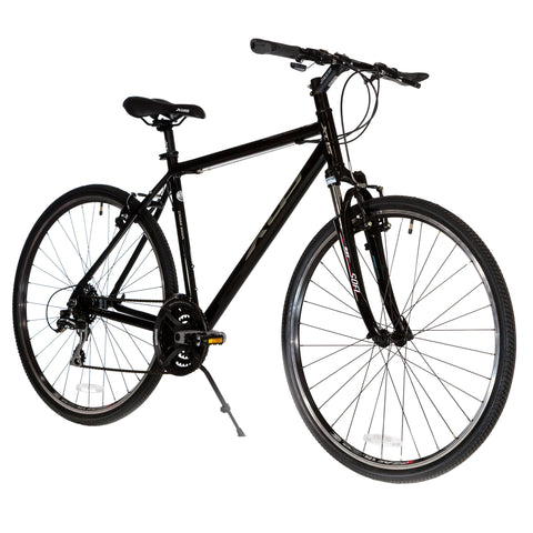 XDS Cross 300 24sp Men's 700C Hybrid City Commuter Bike  //  Jet Black