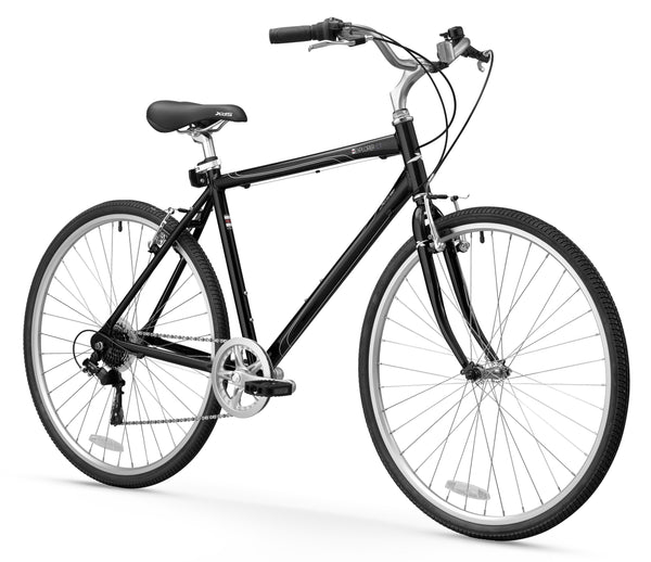 XDS Explorer CT 7sp Man Hybrid City Commuter Bike // Matte Black