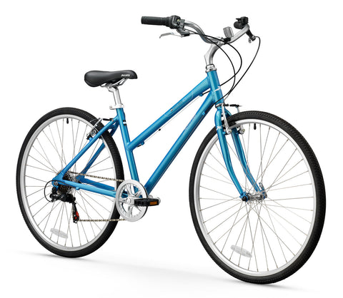 XDS Explorer CT 7sp Women's 700C Step-Through Hybrid City Commuter Bike // Blue