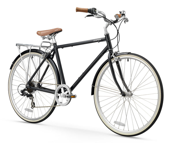 XDS The Captain  //  Men's 7sp Hybrid City Commuter Bike  //  Black