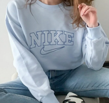 Load image into Gallery viewer, Baby Blue Nike Vintage Jumper