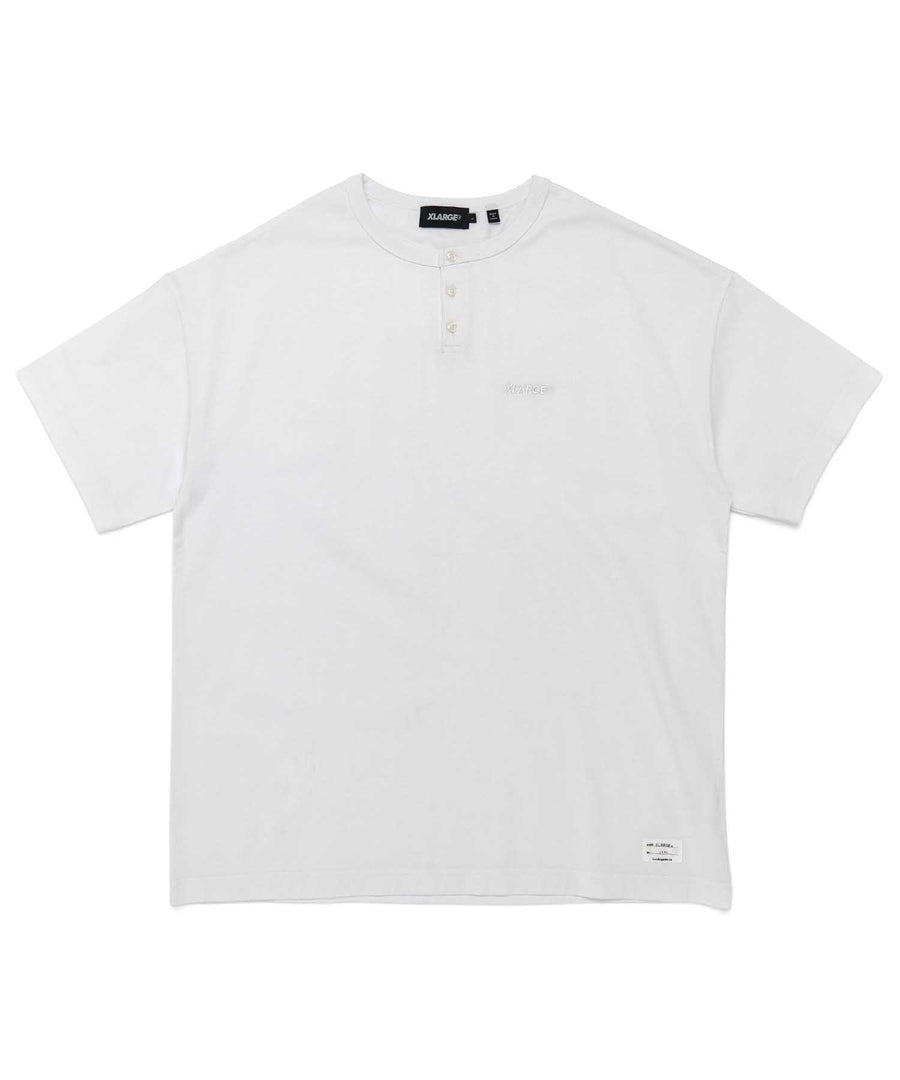 S/S EMBROIDERY HENLEY TEE POLO XLARGE