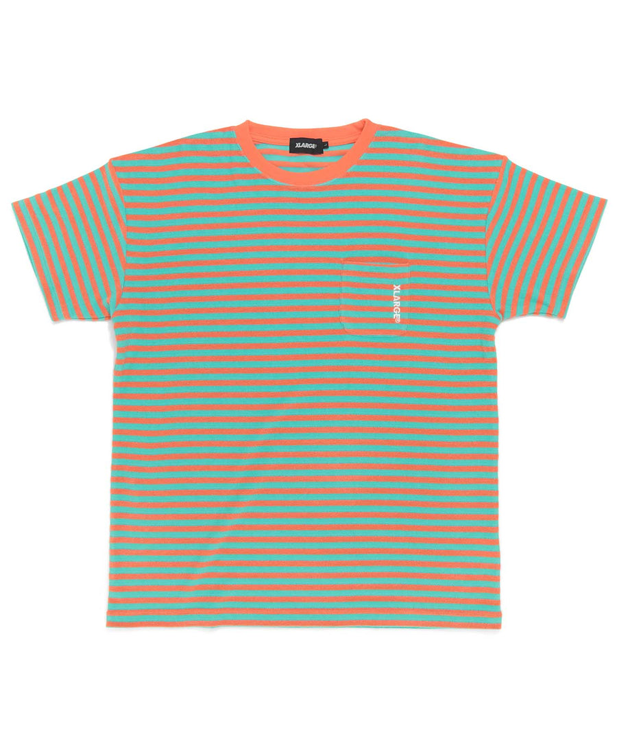 S/S PILE BORDER POCKET TEE KNITS XLARGE