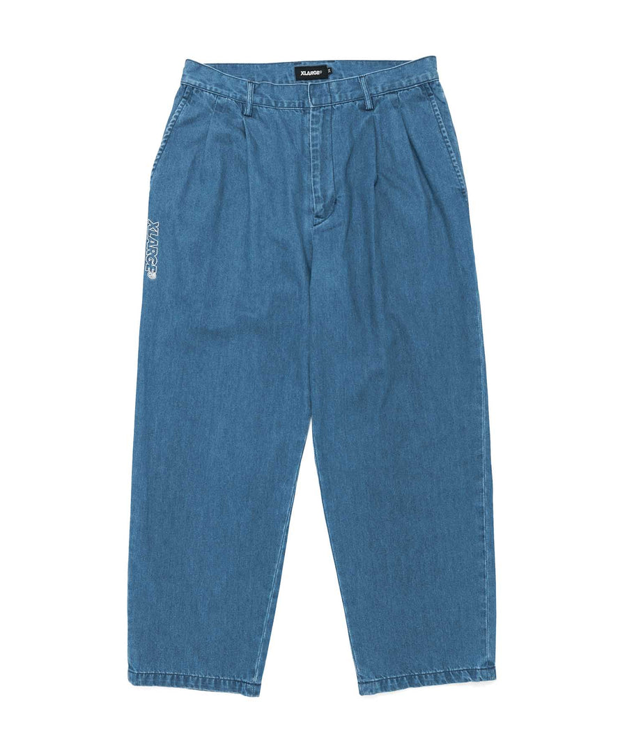 LIGHT DENIM TUCK PANTS PANTS XLARGE