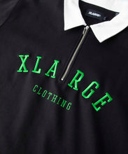 Load image into Gallery viewer, EMBROIDERY LOGO HALF ZIP RUGBY SHIRT-WS KNITS XLARGE