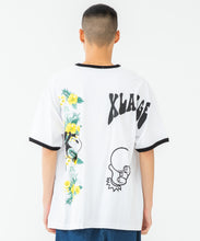 Load image into Gallery viewer, S/S FLORAL PRINT RINGER TEE T-SHIRT XLARGE