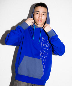 2TONE PULLOVER HOODED SWEAT FLEECE, CREWNECK, HOODIE XLARGE