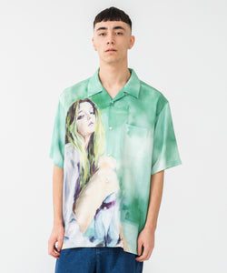 OIL PAINTING S/S SHIRT GIRL SHIRT XLARGE