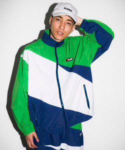SLASH PANELED NYLON JACKET OUTERWEAR XLARGE