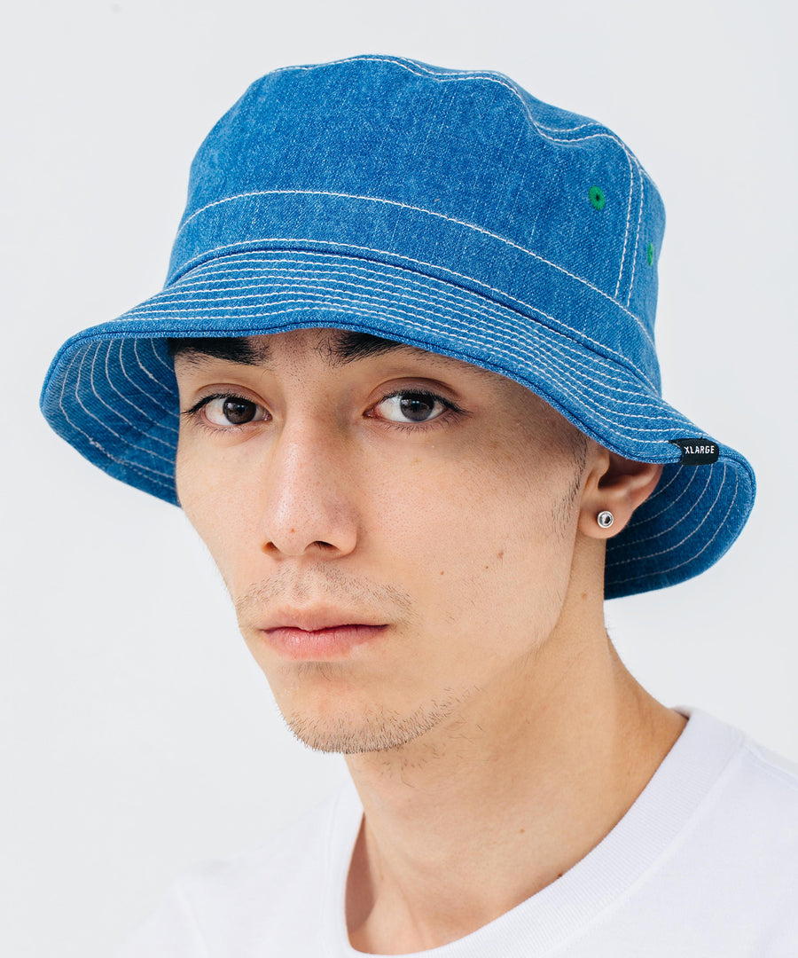 DENIM BUCKET HAT HEADWEAR XLARGE