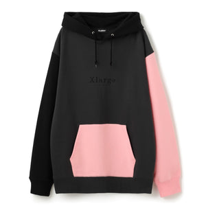 COLOR BLOCK PULLOVER HOODED SWEAT