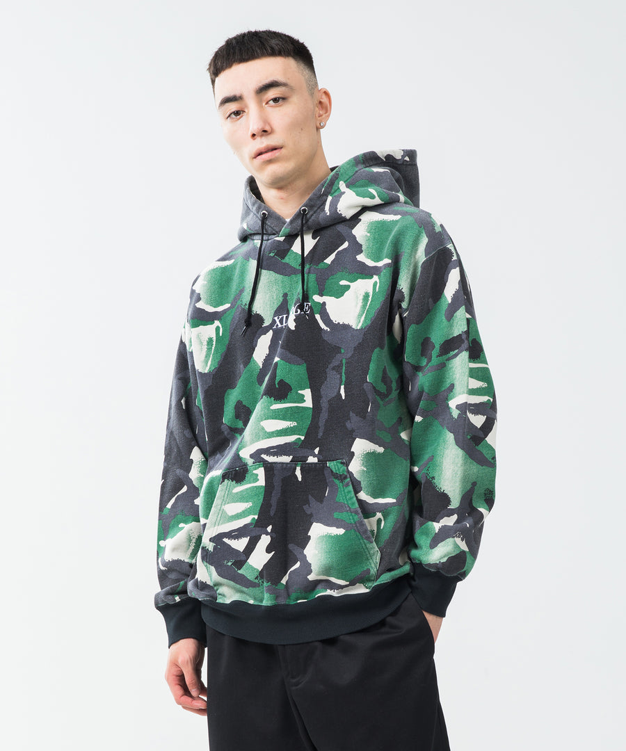 GRADATION CAMO HOODED SWEAT