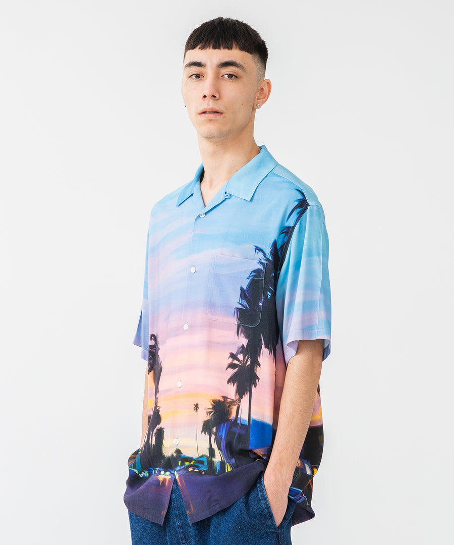 OIL PAINTING S/S SHIRT SUNSET