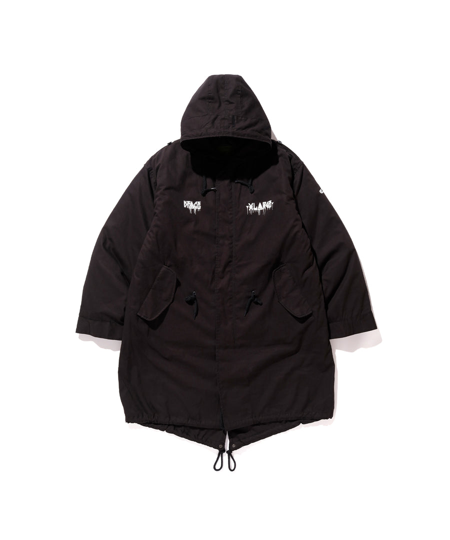 XLARGE x D*FACE STRIPE SKULL RENDER M-51 HOODED JACKET