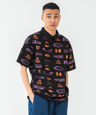 S/S ALLOVER PRINT RUGBY SHIRT KNITS XLARGE