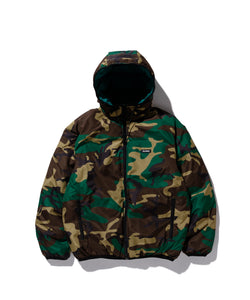 REVERSIBLE HOODED CAMO JACKET OUTERWEAR XLARGE