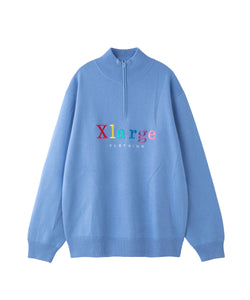 HALF ZIP EMBROIDERY SWEATER KNITS XLARGE