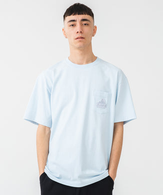 S/S EMBROIDERY SLANTED OG POCKET TEE T-SHIRT XLARGE