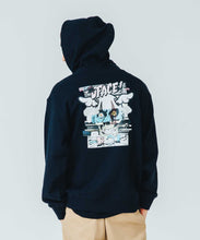 Load image into Gallery viewer, XLARGE x D*FACE STRIPE SKULL RENDER PULLOVER HOODED SWEAT