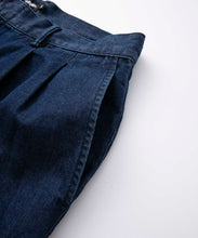 Load image into Gallery viewer, LIGHT DENIM TUCK PANT PANTS XLARGE