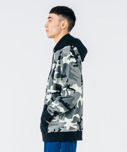 CAMO PULLOVER HOODED SWEAT