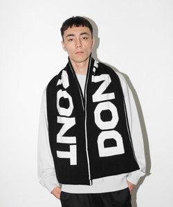 DON'T FRONT LOGO SCARF ACCESSORIES XLARGE