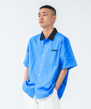Load image into Gallery viewer, S/S 2 TONE OPEN COLLAR SHIRT SHIRT XLARGE