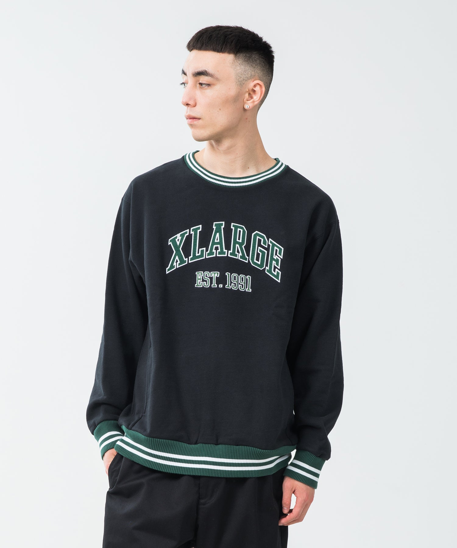 RIB LINE CREWNECK SWEAT