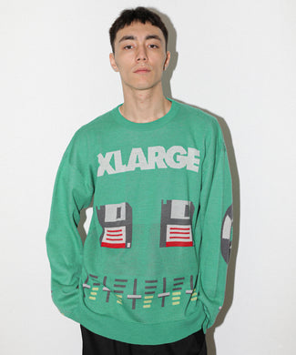 ANALOG JAQUARD SWEATER-WS KNITS XLARGE