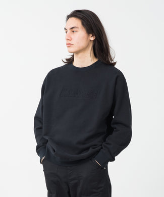 EMBOSSED STANDARD LOGO CREWNECK SWEAT