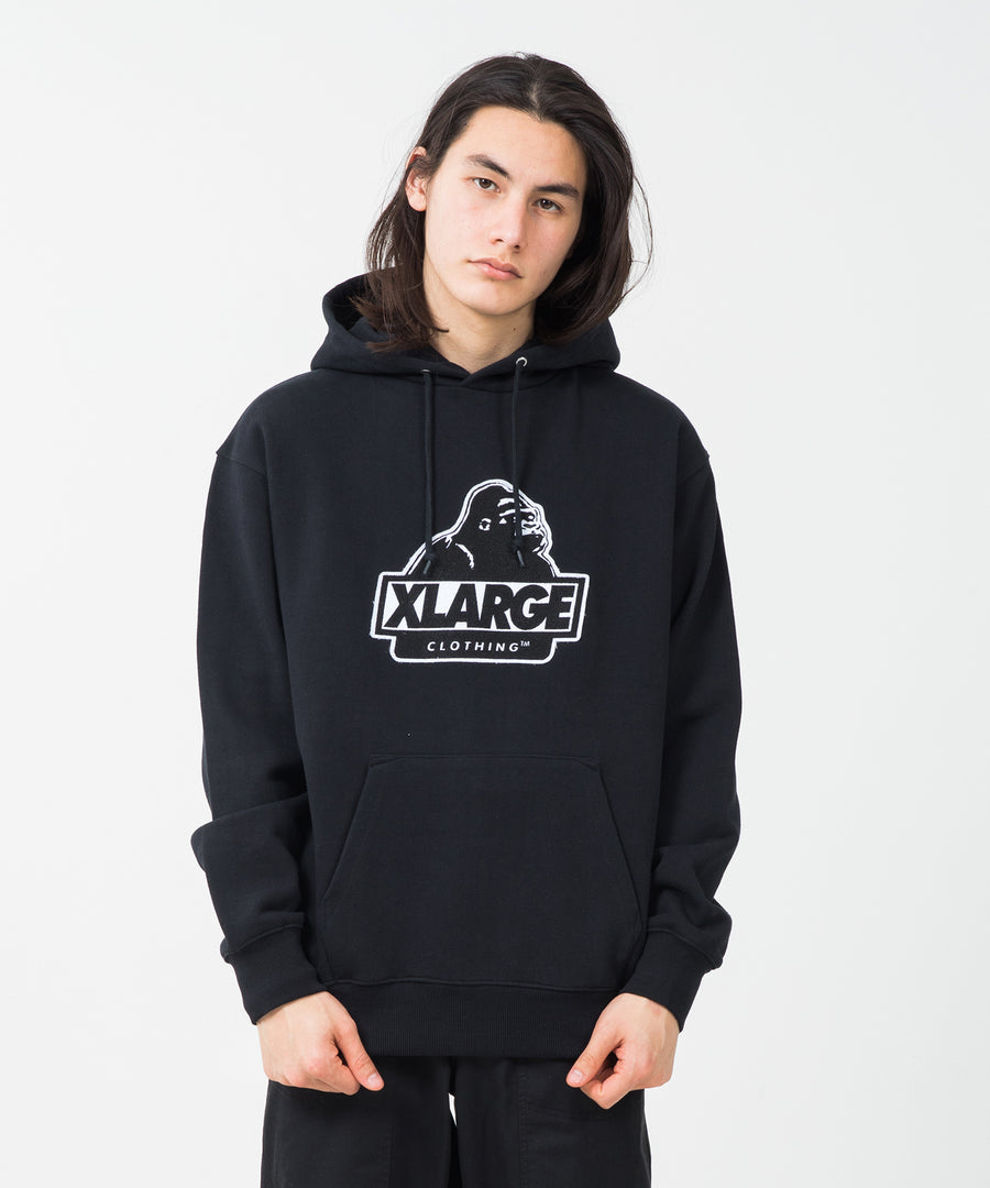SLANTED OG PATCH HOODED SWEAT