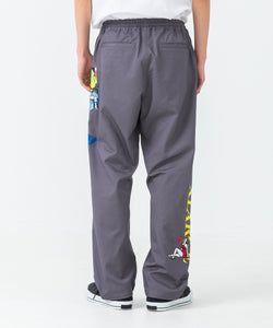 EMBROIDERY WORK EASY PANTS PANTS XLARGE