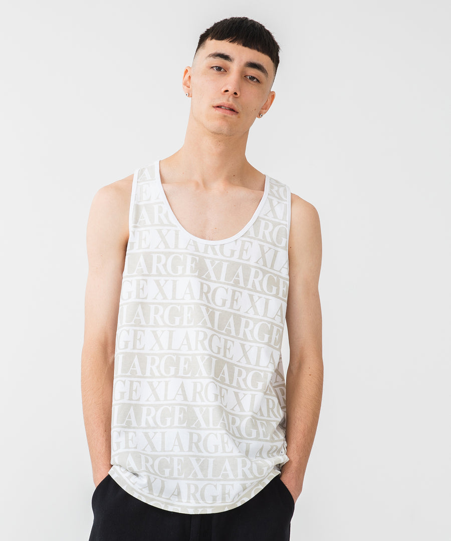 TEXT LOGO TANK TOP KNITS XLARGE
