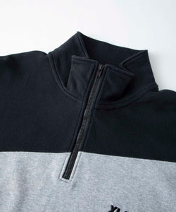 PANELED HALF ZIP SWEAT FLEECE, CREWNECK, HOODIE XLARGE