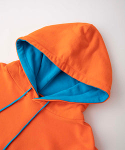 BICOLOR HOODED SWEAT