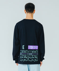 L/S TEE CHINESE LETTERS T-SHIRT XLARGE