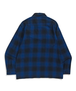 HOMBRE PLAID ZIPPED SHIRT SHIRT XLARGE