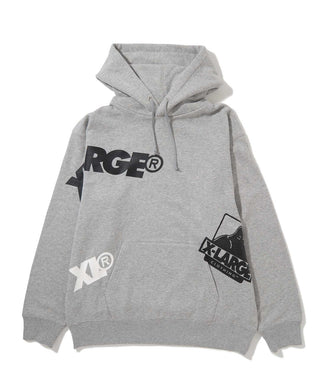 RANDAM PRINT PULLOVER  HOODED SWEAT FLEECE, CREWNECK, HOODIE XLARGE
