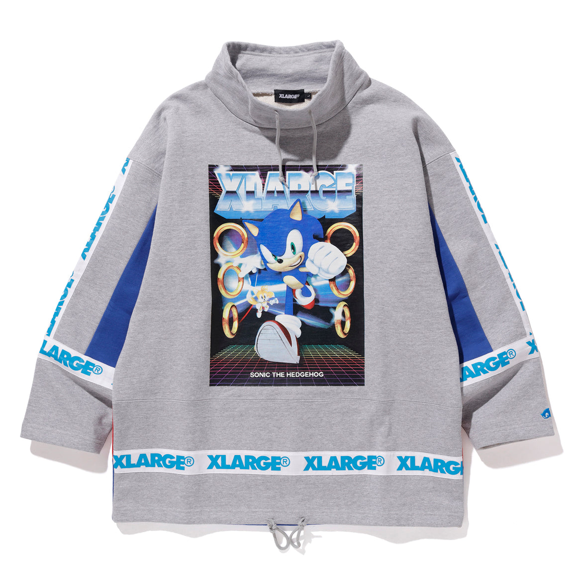 SONIC THE HEDGEHOG TAPED MOCKNECK SWEAT