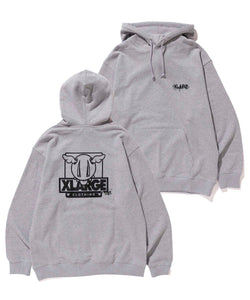 XLARGE x D*FACE D*DOG PULLOVER HOODED SWEAT FLEECE, CREWNECK, HOODIE XLARGE