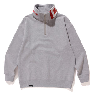 SWITCHED MOCKNECK SWEAT