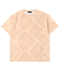 S/S REPTILE ALLOVER PRINTED TEE T-SHIRT XLARGE