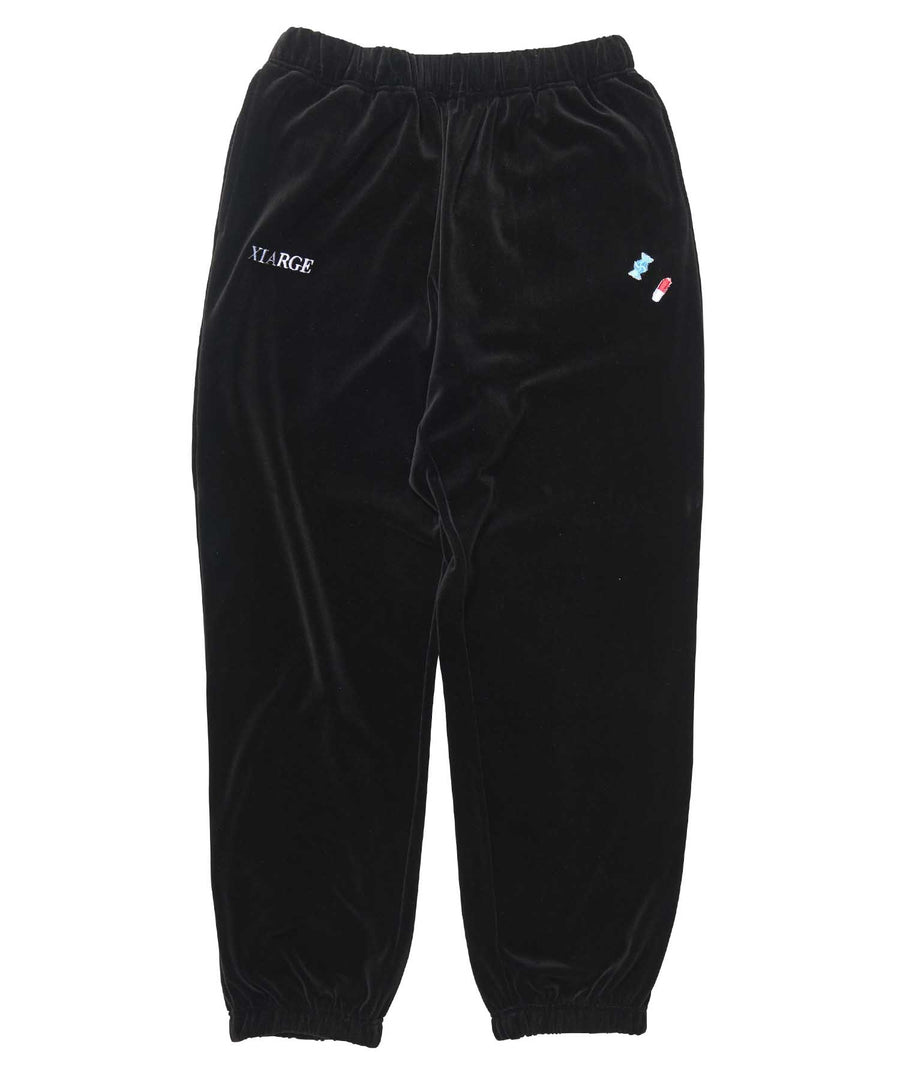 ADDICT LOGO EMBROIDERY VELOUR PANT
