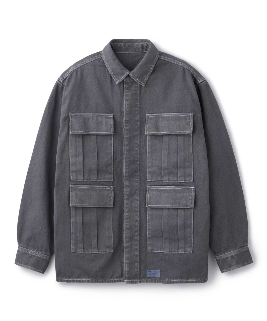 OVERDYED MILITARY JACKET OUTERWEAR XLARGE