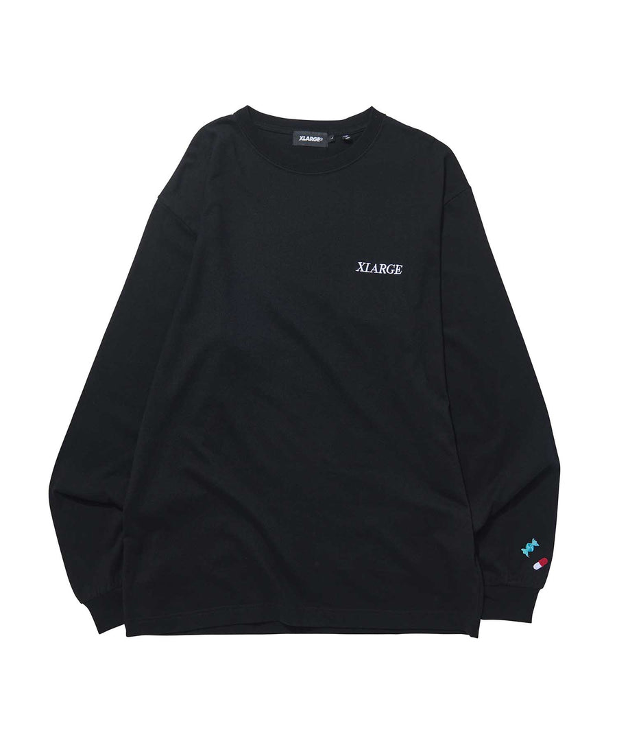 ADDICT LOGO EMBROIDERY L/S TEE