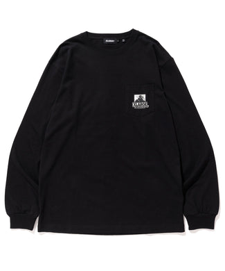XLARGE x D*FACE L/S BIG RANDOM PRINT POCKET TEE